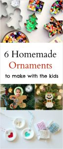 6 Homemade Ornaments to make with your kids