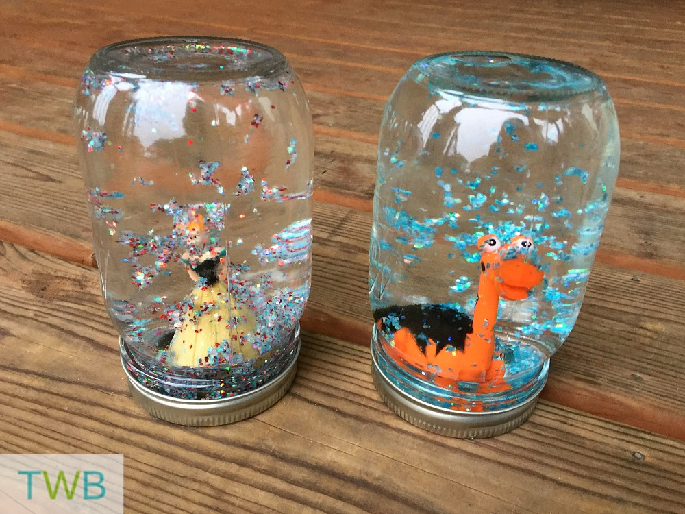 Homemade Snow Globes Close up