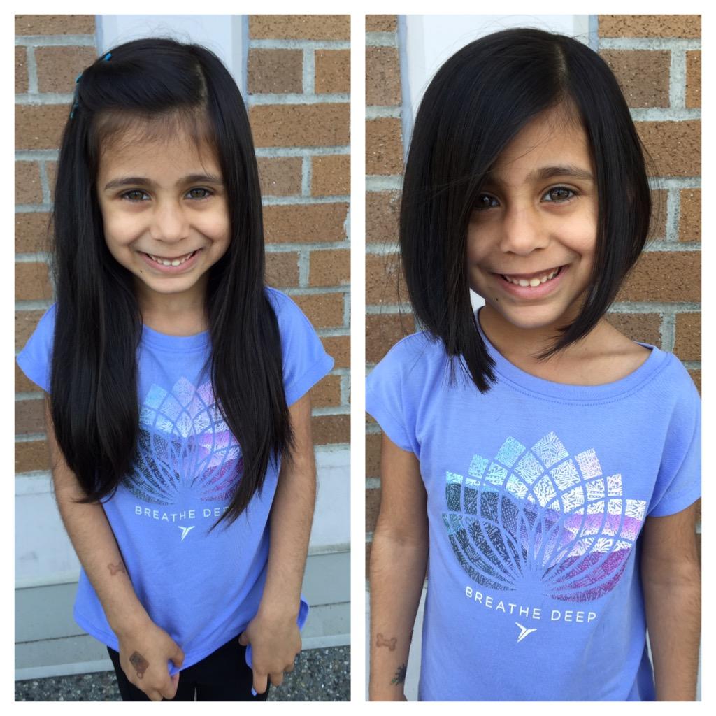 Kyah's hair donation 2016