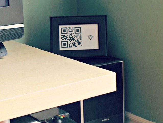 6 Awesome Housewarming Gift Ideas - Wifi Password Frame