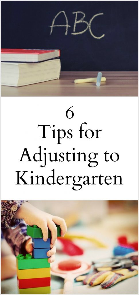 6 tips for adjusting to kindergarten