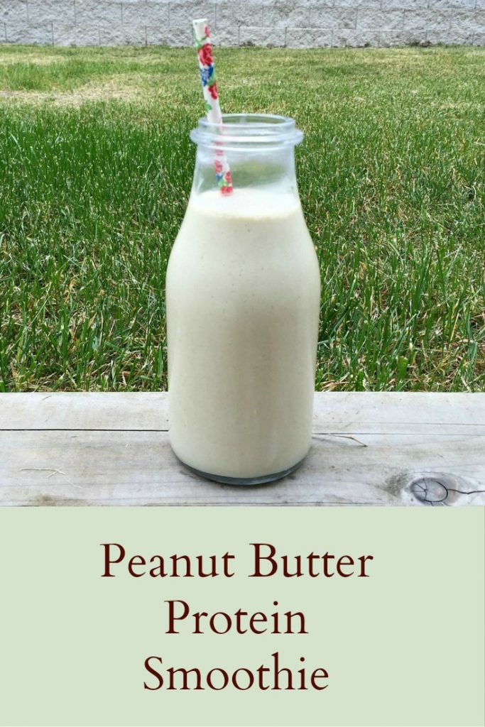Peanut Butter Protein Smoothie - Pinterest