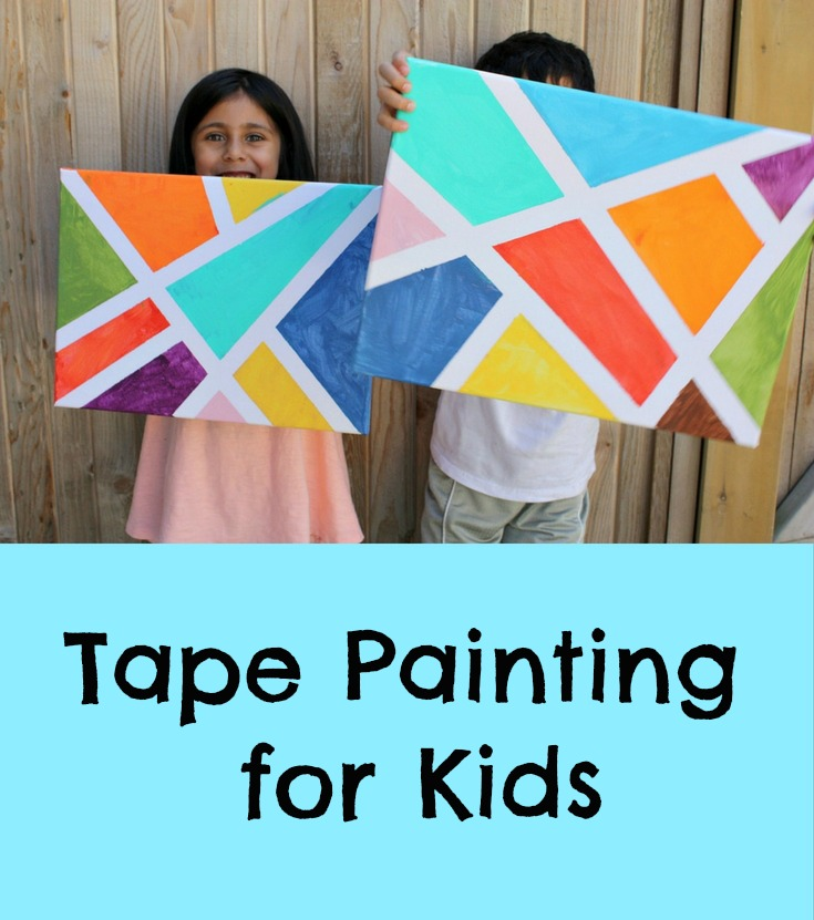 Tape Painting - Pinterest