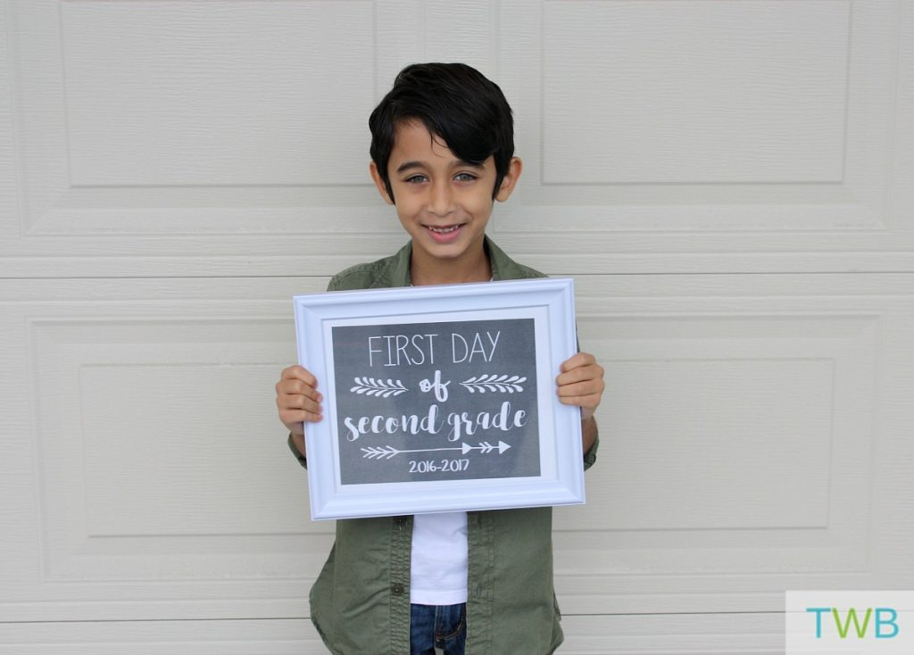 Keyan first day of school 2016 - 1