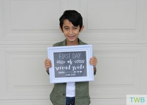 5 First Day of School Printable Sign Options