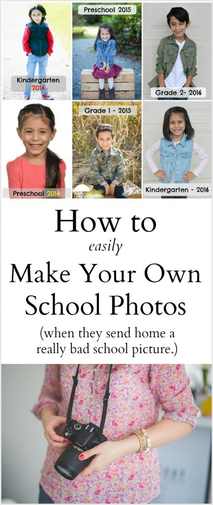 How to easily create your own school photos