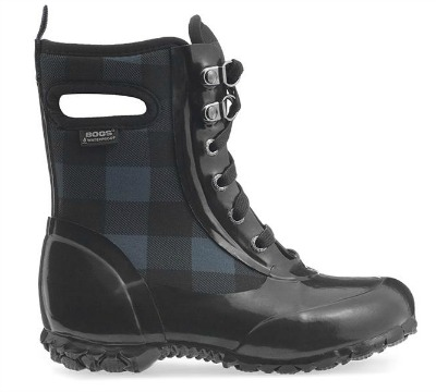 Sidney Lace Plaid Boots - $100