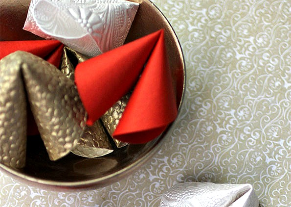 Chinese New Year Crafts - Paper Fortune Cookies