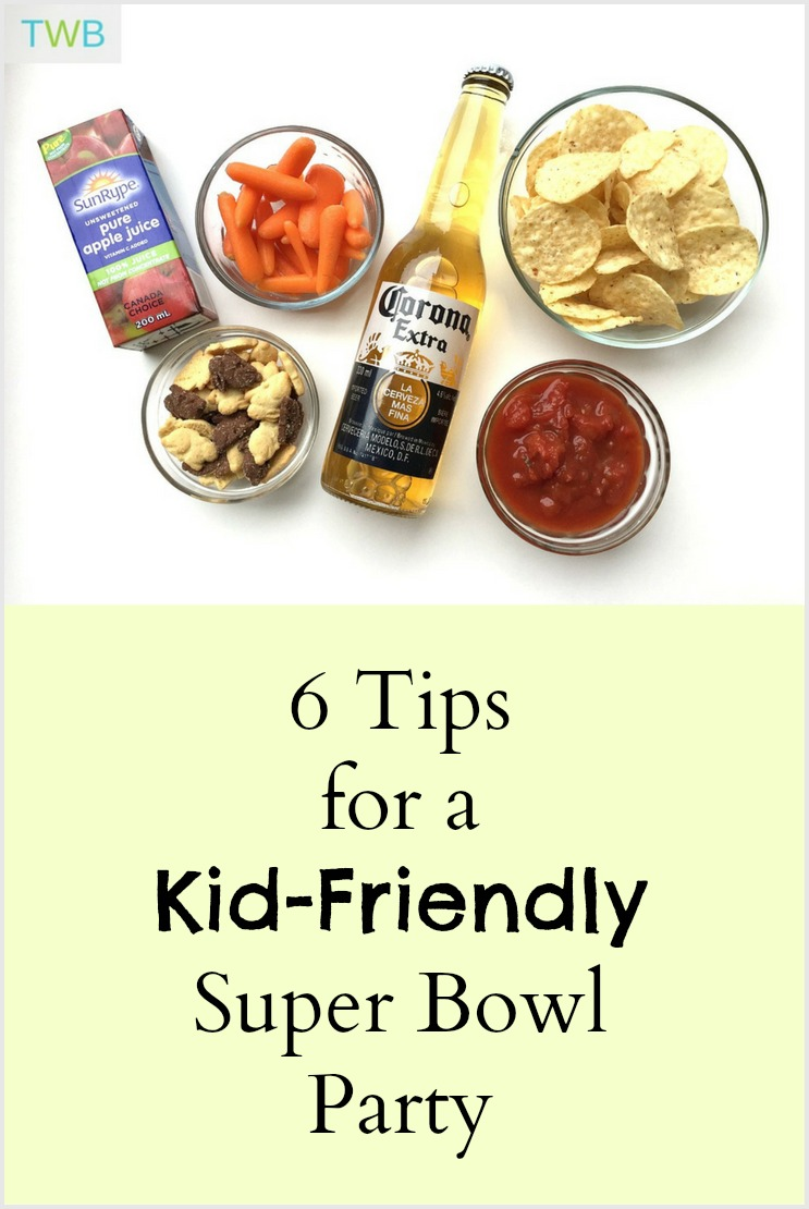 Tips for a Kid-friendly Super Bowl party - pinterest