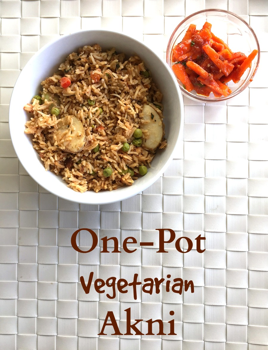 One-Pot Vegetarian Akni