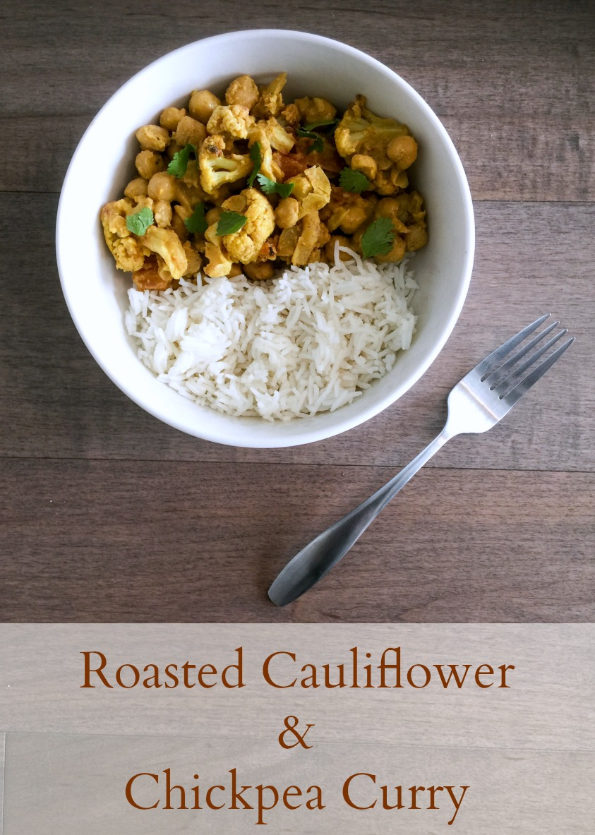 Roasted Cauliflower & Chickpea Curry - Pinterest