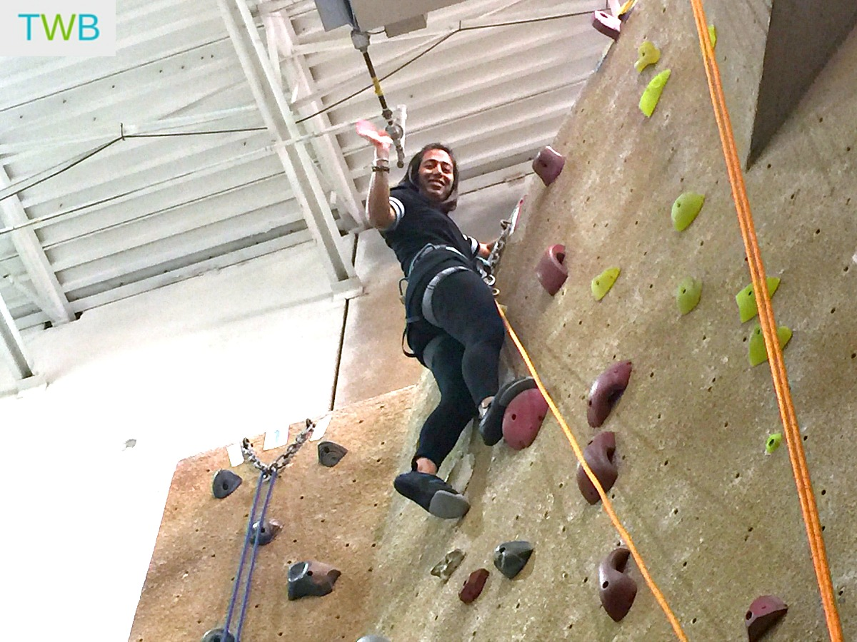 41 st birthday - rock climbing