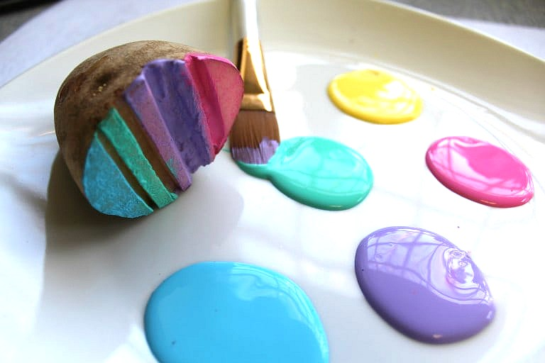 Easter Potato stamps