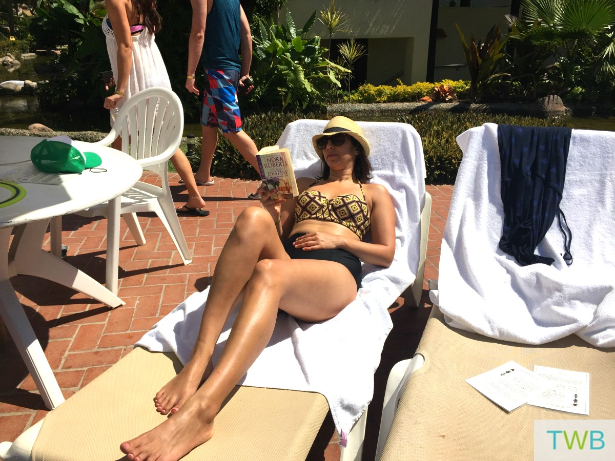 Why a vacation does the mommy good - lounging