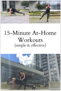 15 minute At-Home Workouts