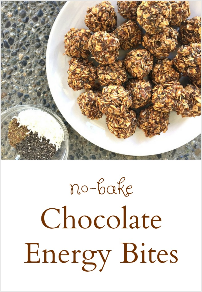 no bake Chocolate Energy Bites