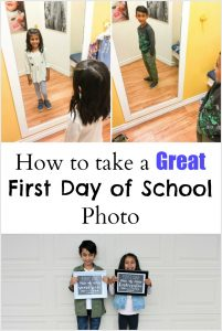 Tips for Taking Great First Day of School Photos