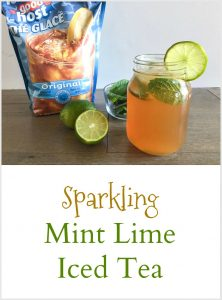 Sparkling Mint Lime Iced Tea