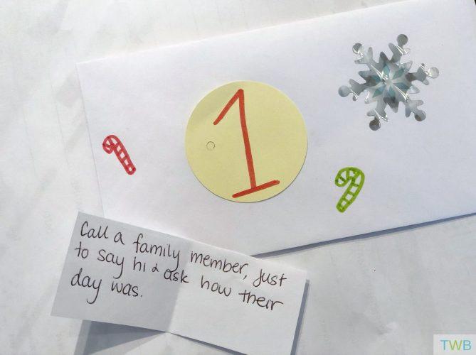 Homemade Kindness Advent Calendar