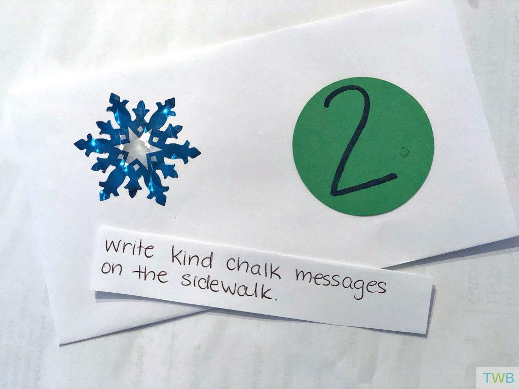 Homemade Kindness Advent Calendar - Day 2