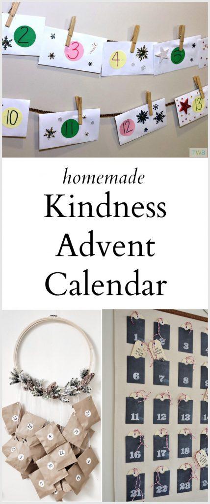 Homemade Kindness Advent Calendar - pinterest