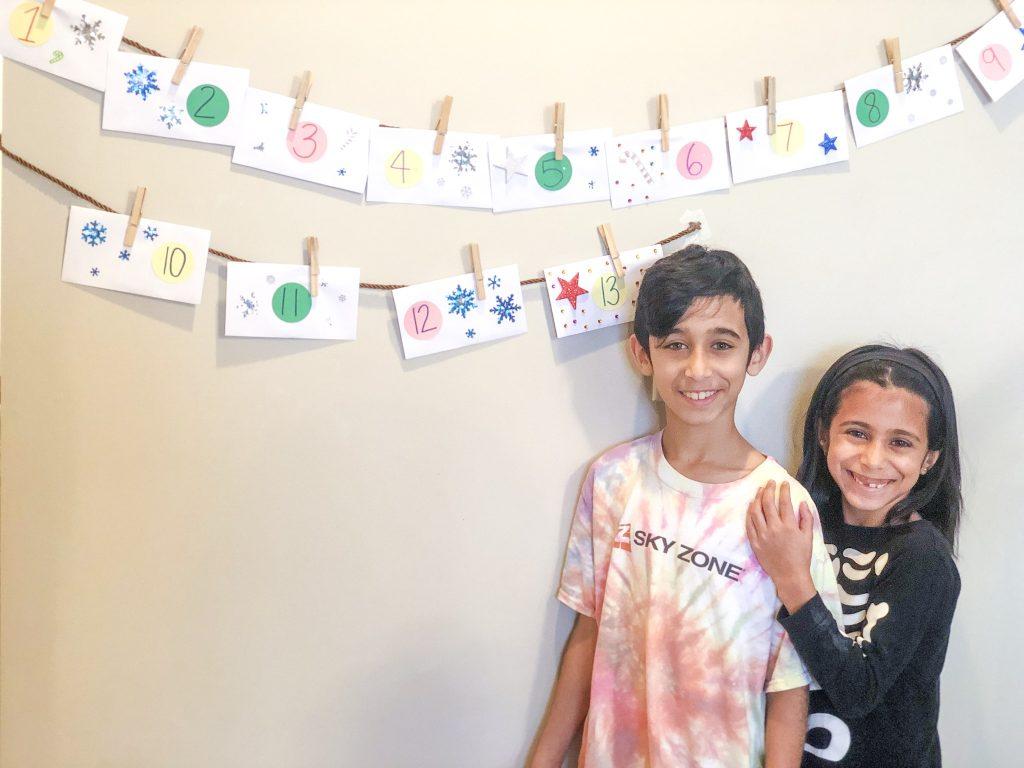 Homemade kindness Advent Calendar - kids